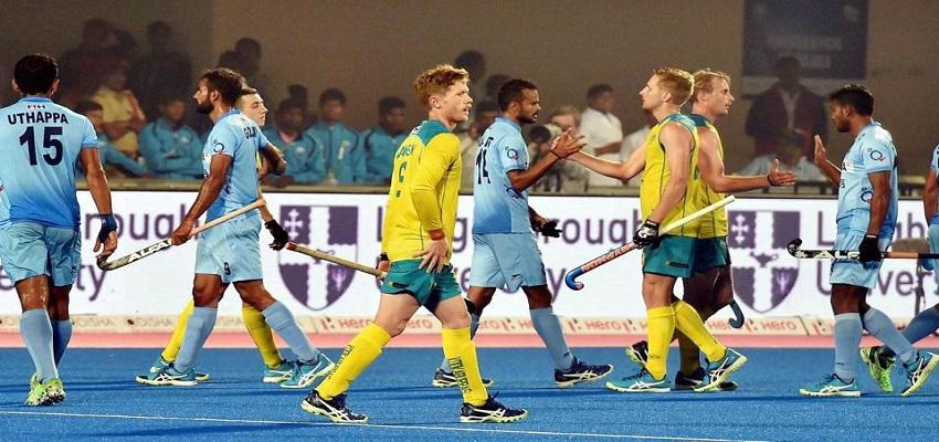 हॉकी वर्ल्ड लीग फाइनल,पहले मैच में भारत-ऑस्ट्रेलिया मैच 1-1 से ड्रॉ ।