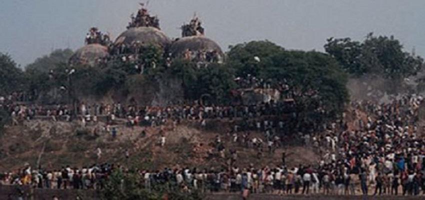 बाबरी मस्जिद विध्वंस की 25वीं बरसी,6 दिसंबर 1992 को गिराया गया था विवादित ढांचा।