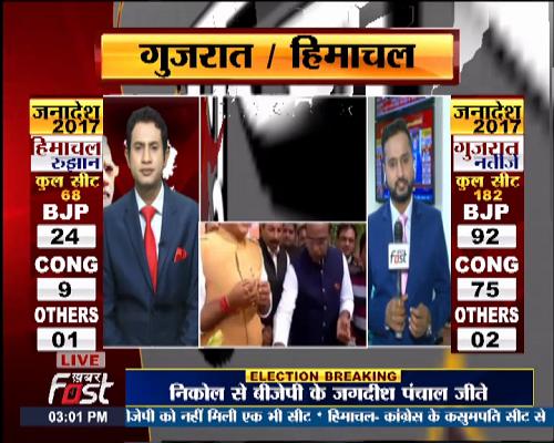 गुजरात -हिमाचल में बीजेपी की'एतिहासिक' जीत, वहीं नोटा को मिले करीबी साढ़े पांच लाख से ज्यादा वोट।
