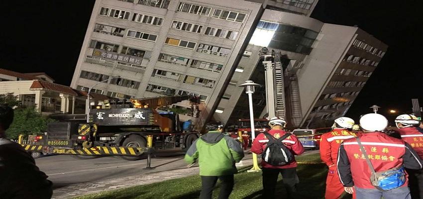 ताइवान में 6.4 तीव्रता का भूकंप ऊंची-ऊंची इमारतें झुकीं।