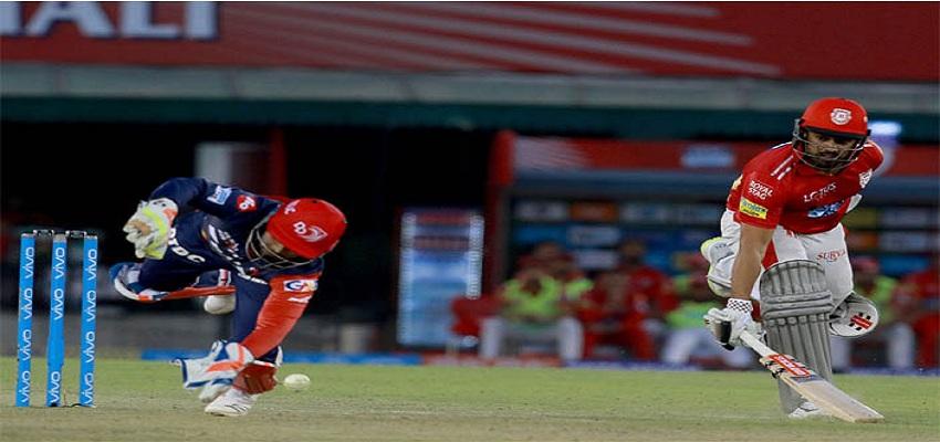 किंग्स इलेवन पंजाब ने दिल्ली डेयरडेविल्स को हराया।