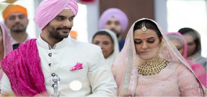 पंजाबी रीति-रिवाज से हुई नेहा और अंगद की शादी