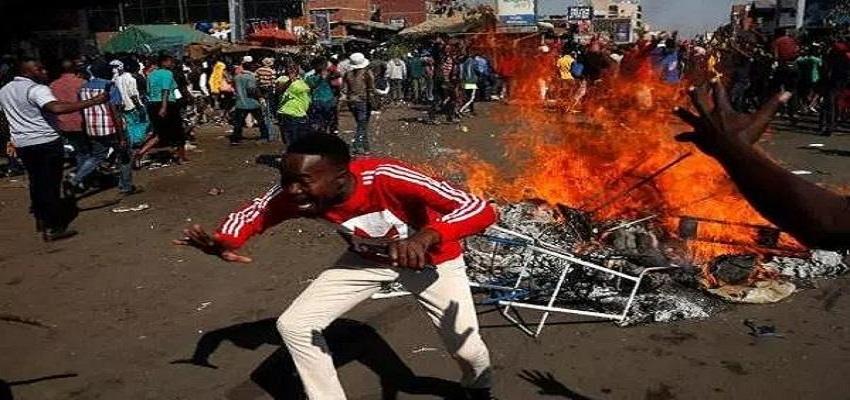 जिम्बाब्वे में चुनाव के बाद हिंसा