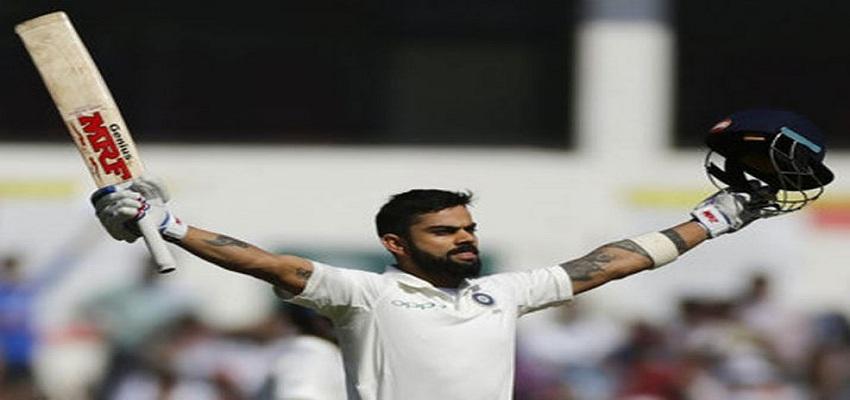 कोहली की सेंचुरी ने टीम इंडिया को उभारा।