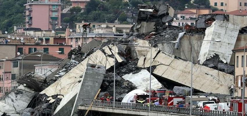 इटली में पुल ढ़हने से 12 महीने की इमर्जेंसी।
