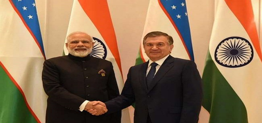पीएम मोदी से मिले उज्बेकिस्तान के राष्ट्रपति।