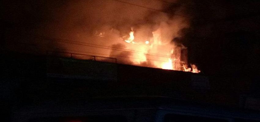 जिला अस्पताल के हड्डी रोग विभाग में लगी आग।
