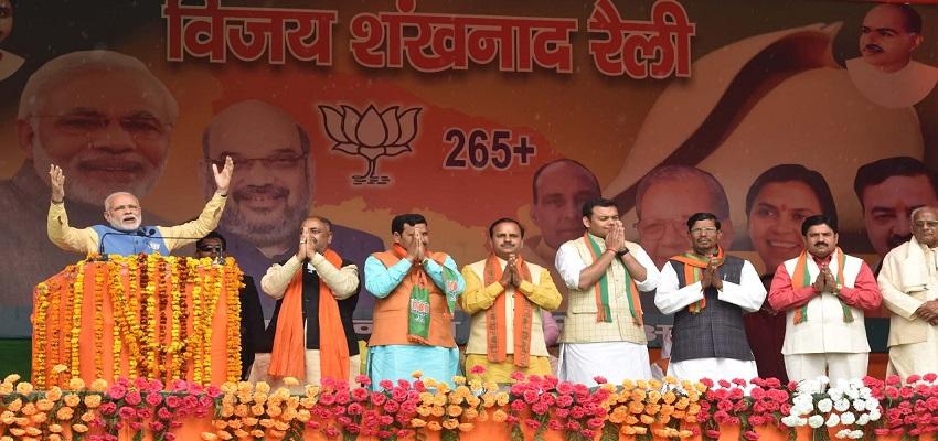 पीएम रैली का न्योता देने पहुंचे केंद्रीय राज्यमंत्री राव इंद्रजीत।