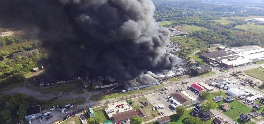 एम्स में लगी आग।
