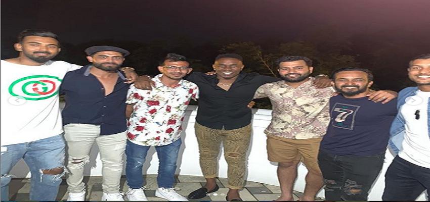 वेस्ट इंडीज में पार्टी करती नज़र आई टीम इंडिया।