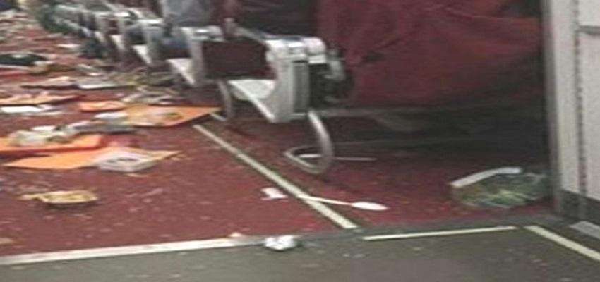 इंडिया का विमान एआई-467 तूफान में हुआ डैमेज