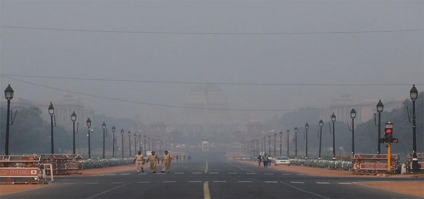 दिल्ली में प्रदूषण का घटा स्तर