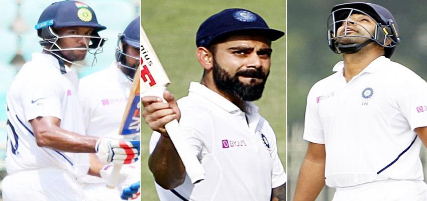 टीम इंडिया ने पहली बार किया कारनामा, तीनो मैचो में दोहरे शतक