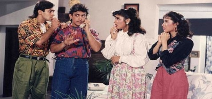 अंदाज अपना अपना के सेट पर बात नहीं करते थे सलमान-आमिर