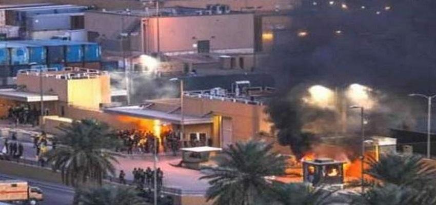 बगदाद में अमेरिकी दूतावास के पास रॉकेट हमला