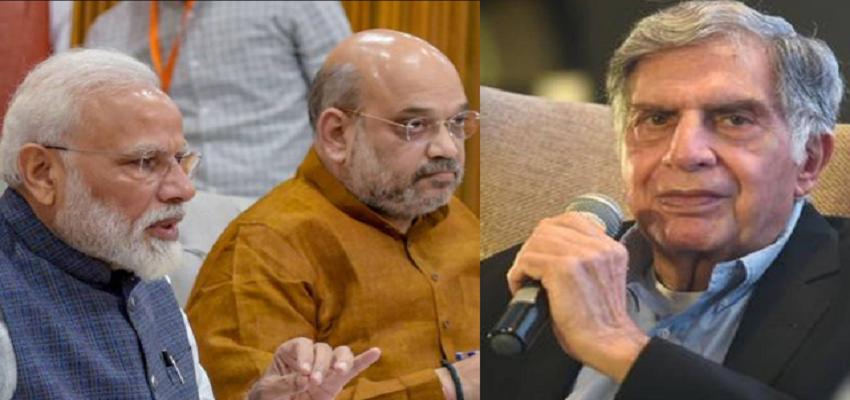 रतन टाटा ने पीएम मोदी और गृहमंत्री शाह की तारीफ की