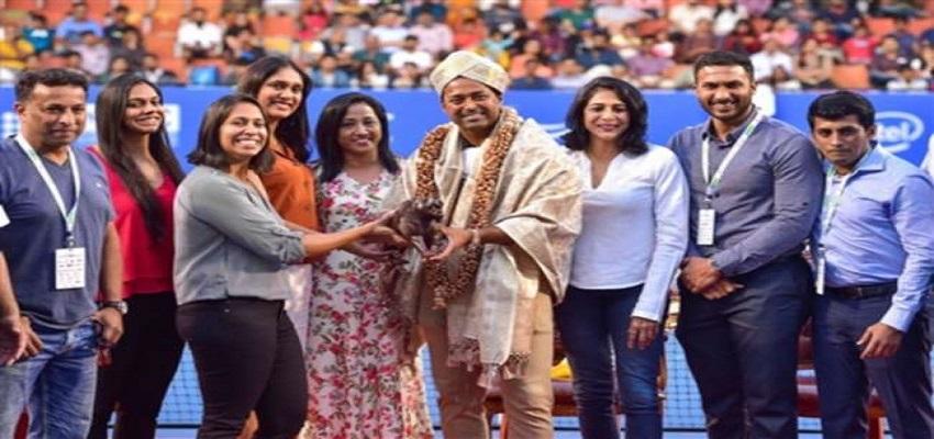 बेंगलुरु ओपन के अंतिम दिन लिएंडर पेस को किया गया सम्मानित
