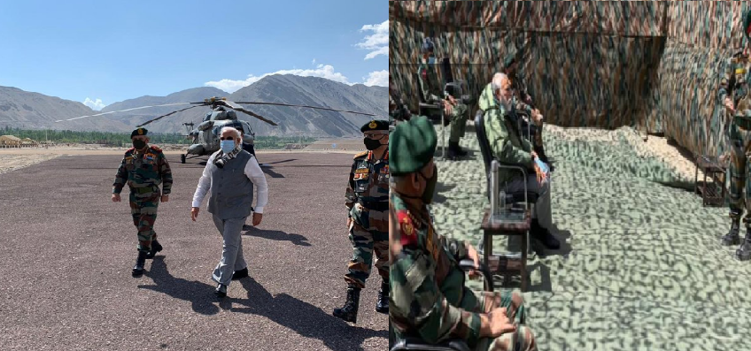 PM Modi Visits Leh  : लेह पहुंचे पीएम मोदी, नीमू पोस्ट पर अधिकारियों से की बातचीत