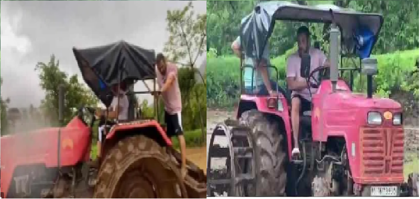 Salman Khan Driving Tractor :  खेतों में ट्रैक्टर चलाते नजर आए सलमान खान, वायरल हो रहा है वीडियो