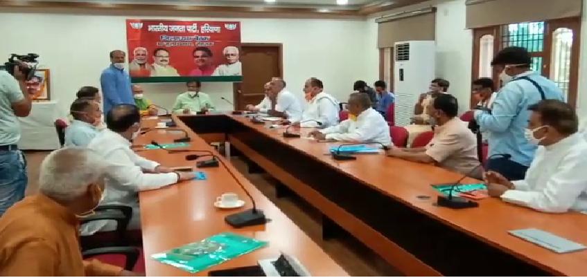Haryana BJP Meeting: बीजेपी जिला अध्यक्षों की बैठक, ओपी धनखड़ बोले- संगठन की मजबूती के लिए रात दिन तत्पर