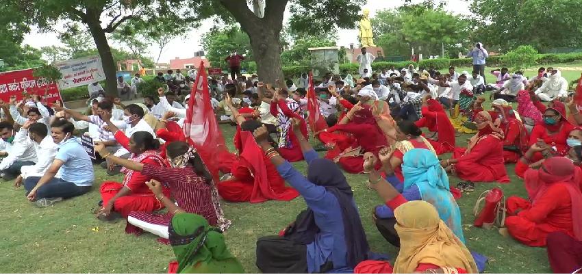 Haryana Protest: हरियाणा में कर्मचारियों का जेल भरो आंदोलन, सरकार के खिलाफ रोष प्रदर्शन