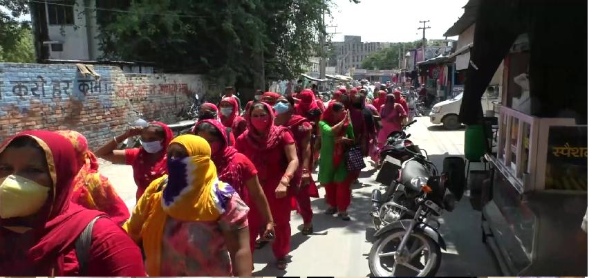 Asha Workers Protest: हरियाणा में सड़कों पर 'आशा', सीएम के नाम सौंपा ज्ञापन