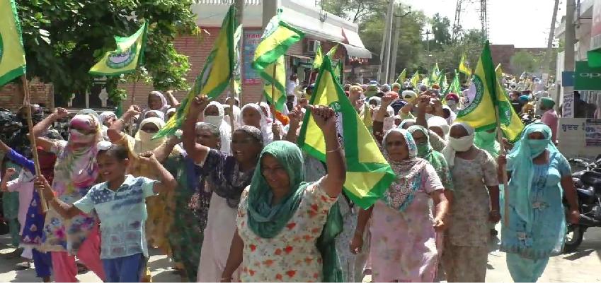 Punjab Kisan Protest: किसानों का केन्द्र सरकार के खिलाफ फूटा गुस्सा, 5 दिन तक किया जाएगा प्रदर्शन
