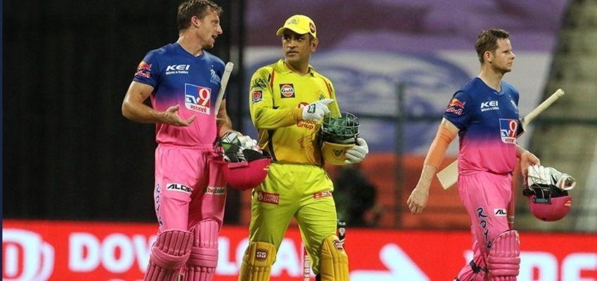 IPL2020 : राजस्थान ने चेन्नई को दी करारी शिक्शत
