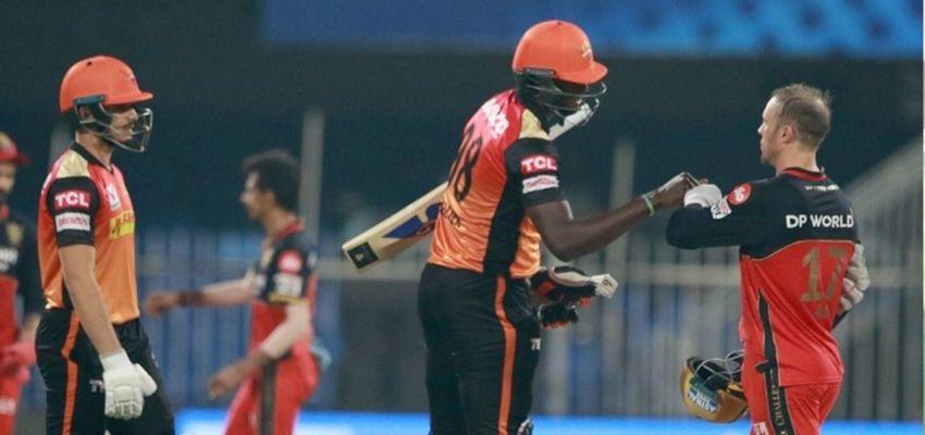 IPL 2020 : सनराइजर्स हैदराबाद ने RCB को 5 विकेट से दी शिक्सत