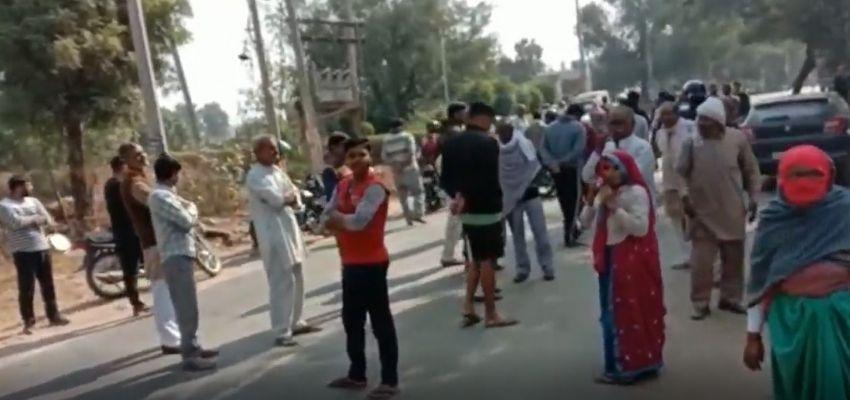 Haryana : इस गांव के लोगों को नहीं मिल रहा पानी, सड़क जाम कर किया हंगामा