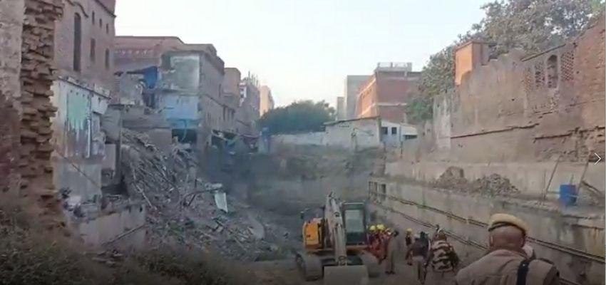 KANPUR: बिल्डिंग गिरने 1 शख्स की मौत, 68 लोगों ने सड़कों पर डाला डेरा