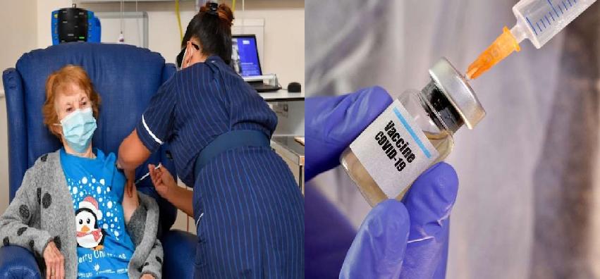 Corona Vaccine :  इस देश में शुरू हुई कोरोना टीकाकरण की प्रक्रिया, 90 साल की महिला को दिया गया पहला टीका