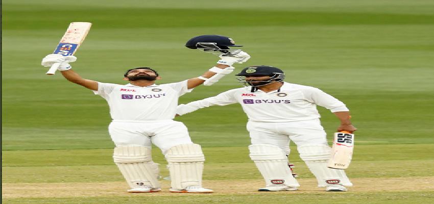 IND VS AUS: दूसरे दिन का खेल खत्म, रहाणे का शतक, भारत को बढ़त