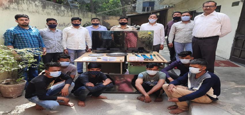 दिल्ली में कई चोरी की घटनाओं को अंजाम देने वाले गिरोह पर दिल्ली  पुलिस का शिकंजा