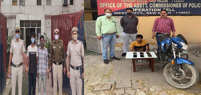 Delhi: दिल्ली में अलग-अलग जगहों पर छापेमारी,चोरी करने वाले गिरोह पर शिकंजा