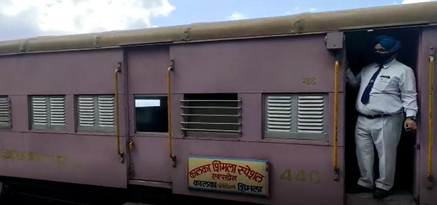 Himachal: विश्व धरोहर कहे जानें वाली शिमला-कालका रेल पर कोरोना ने लगाया ब्रेक