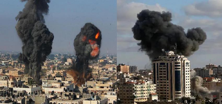 इजराइल ने किया गाजा पट्टी पर हवाई हमला, इकलौती कोरोना टेस्टिंग लैब हुई तबाह, 213 लोगों की मौत