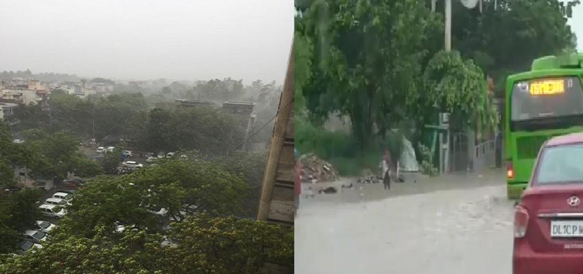 Delhi weather: दिल्ली-NCR में हुई झमाझम बारिश, गर्मी से लोगों को मिली राहत, सड़कें तालाब में हुई तब्दील