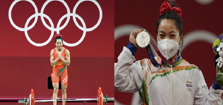 खत्म हुआ 21 सालों का लंबा इंतजार, मीरा बाई चानू ने जीता वेटलिफ्टिंग में सिल्वर पदक