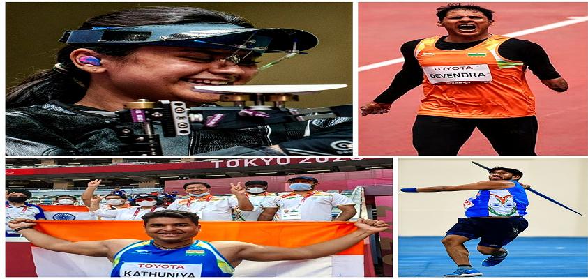 टोक्यो पैरालंपिक में भारतीय खिलाडियों के शानदार प्रदर्शन, अब तक जीते 7 मेडल