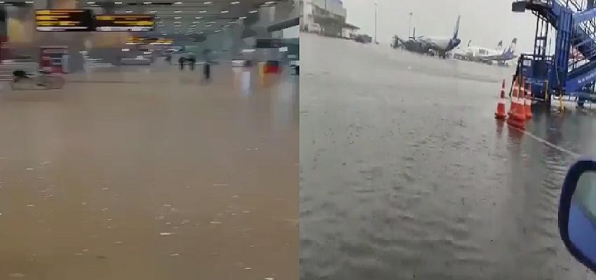 DELHI RAIN: भारी बारिश में जलमग्न हुई दिल्ली, एयरपोर्ट का नजारा समंदर जैसा