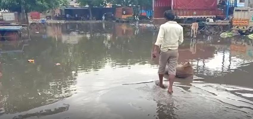 Haryana: आफत बनी बारिश, तालाब में तब्दील हुई सब्जी मंडी